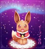 : Winter Eevee : by CaninePrince