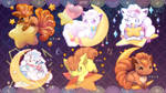 [Collab, Free PC Wallpaper] :. Starry Moon-kon .: by CaninePrince