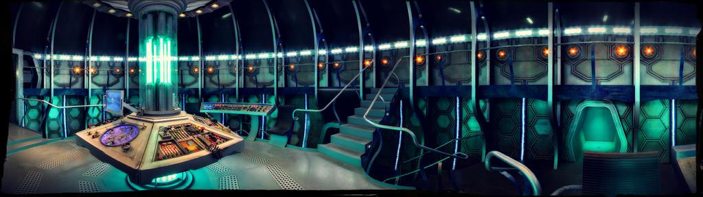 TARDIS Interior Dual Screen Wallpaper 3840x1080 By SteampunkTinkergirl