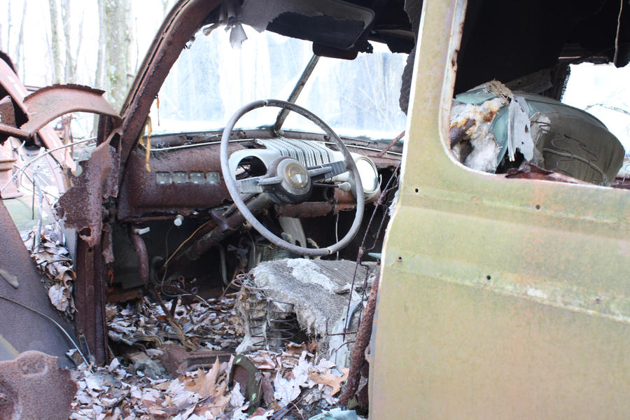 old rusty car interior by aila art on deviantart. Black Bedroom Furniture Sets. Home Design Ideas
