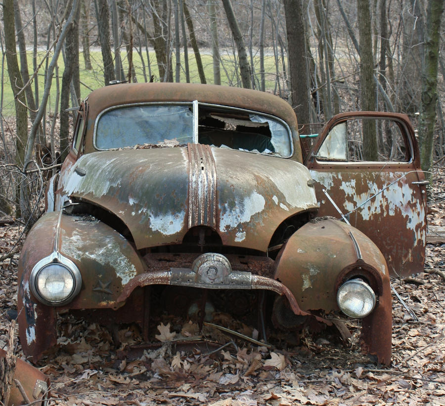 old rusted car by aila-art on DeviantArt