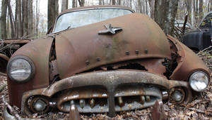 old rusty packard