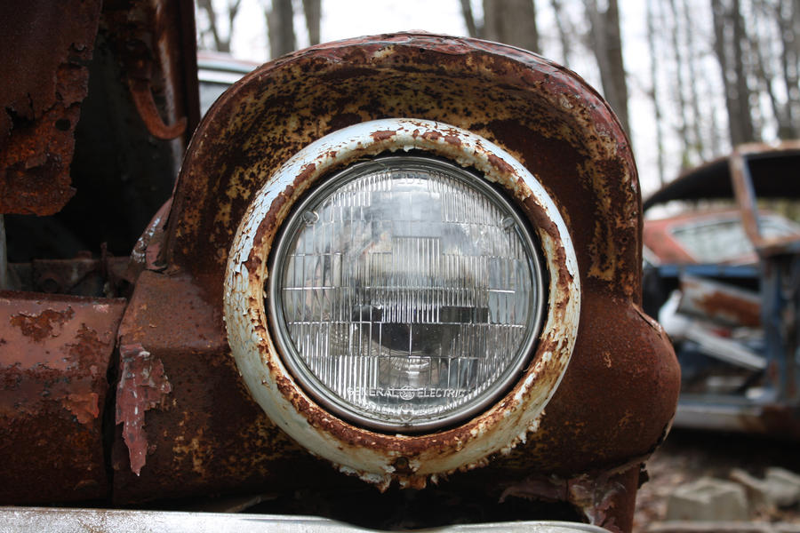 old rusty headlight by aila-art