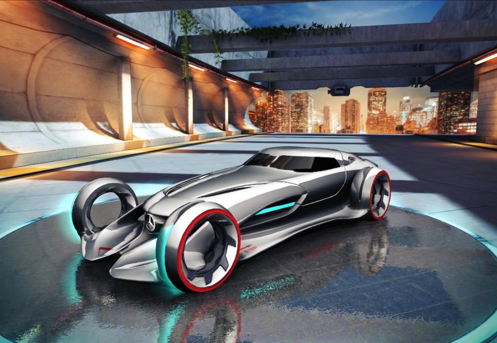 Mercedes Benz Silver Lightning Car Ong