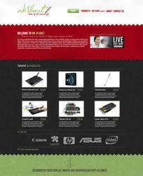 ink-planet website design by SKDeisgn