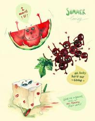 summer loving  a.k.a. poor cheese by FaniArgirova