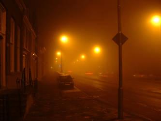 Misty street by bramvdgevel