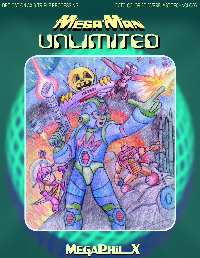 MegaMan Unlimited Ugly Box Art by MegaPhilX