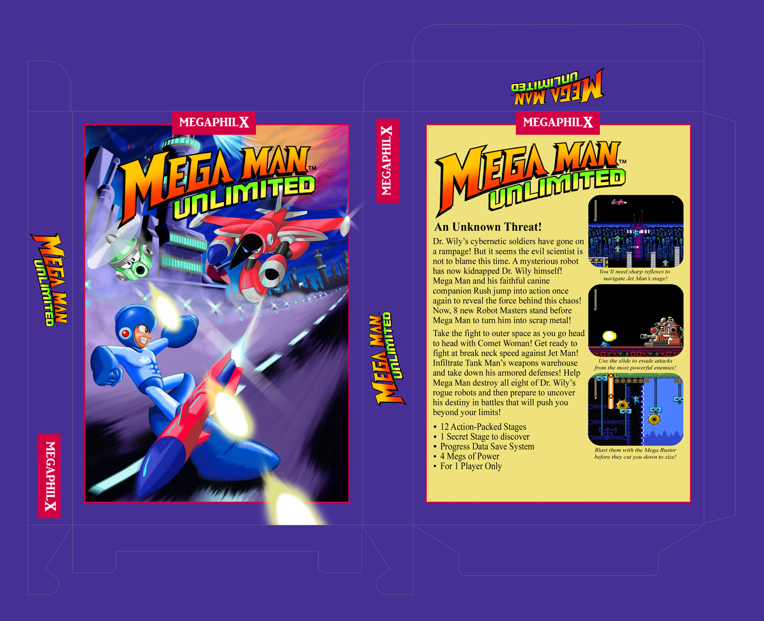 MegaMan Unlimited Decent-looking BoxArt Template by ...