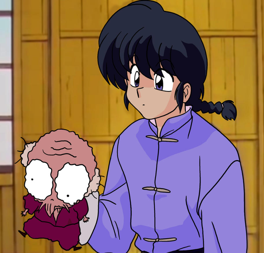 Ranma Holding A Piece Of Trash (Remake) By MegaPhilX On