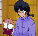 Ranma Holding a Piece of Trash (Remake)