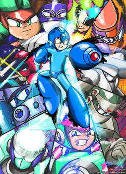Mega Man Unlimited 3rd Anniversary Cover Art