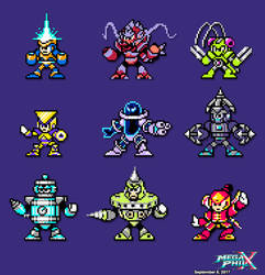 9 New Robot Masters Sprites by MegaPhilX