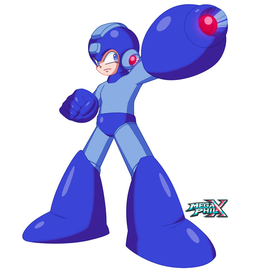 Classic Mega Man (30th Anniversary Collab) by MegaPhilX