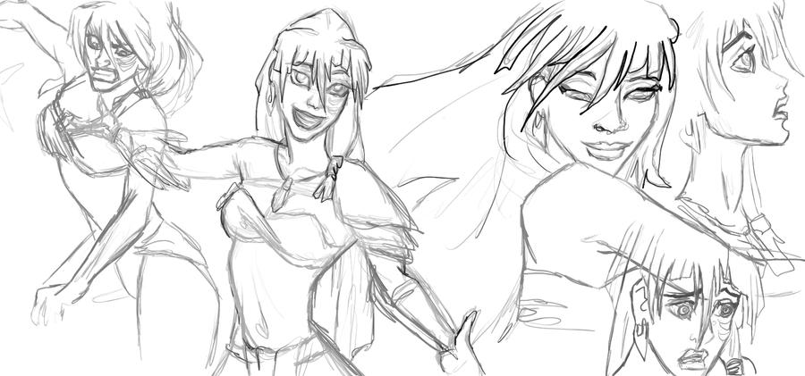 Kida Sketches by stargate4ever23