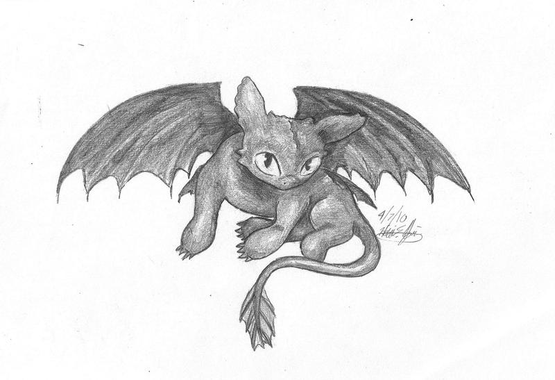 This is a graphic of Critical Baby Toothless Drawing