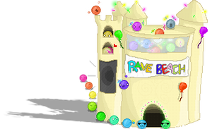 Beach project, Rave castle by ScreamingGerbil