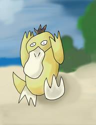 Psyduck at the Beach.