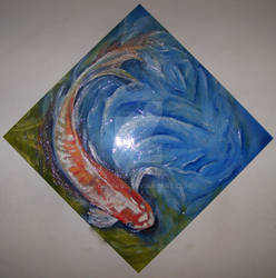 Coy to be Koi. 1mtr square.