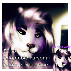 Adoptable Character: Adriane Dreamane (Portrait)