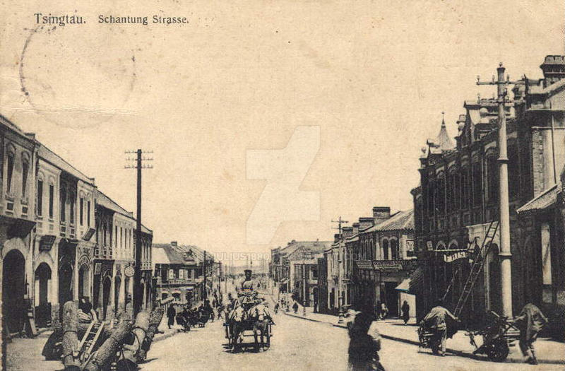 Deutsches Tsingtau ~ Schantung Strasse by julius1880