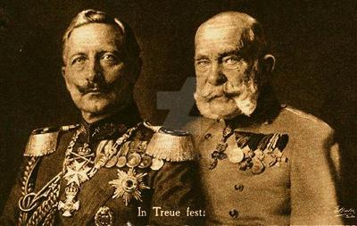 Wilhelm II and Franz Joseph by julius1880
