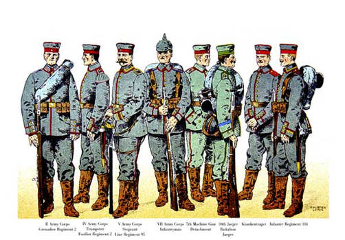 German Infantry WWI