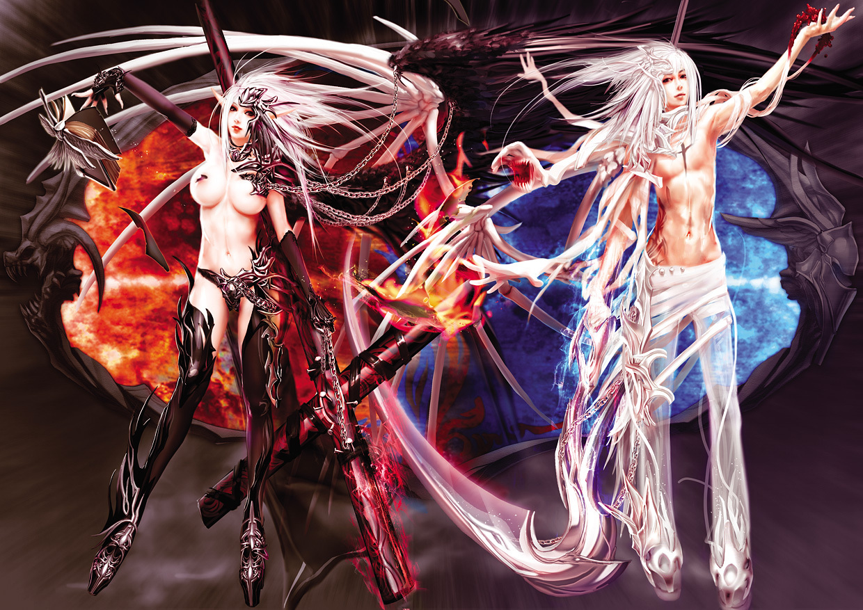 Angels And Devil Art