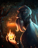 The Old Druid by KhasisLieb