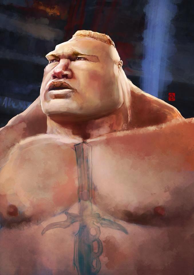 WWE Brock Lesnar (UFC) by KhasisLieb