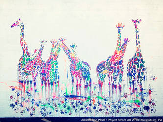 Giraffes (14'x18') - Project Street Art by AddamRaeWolff