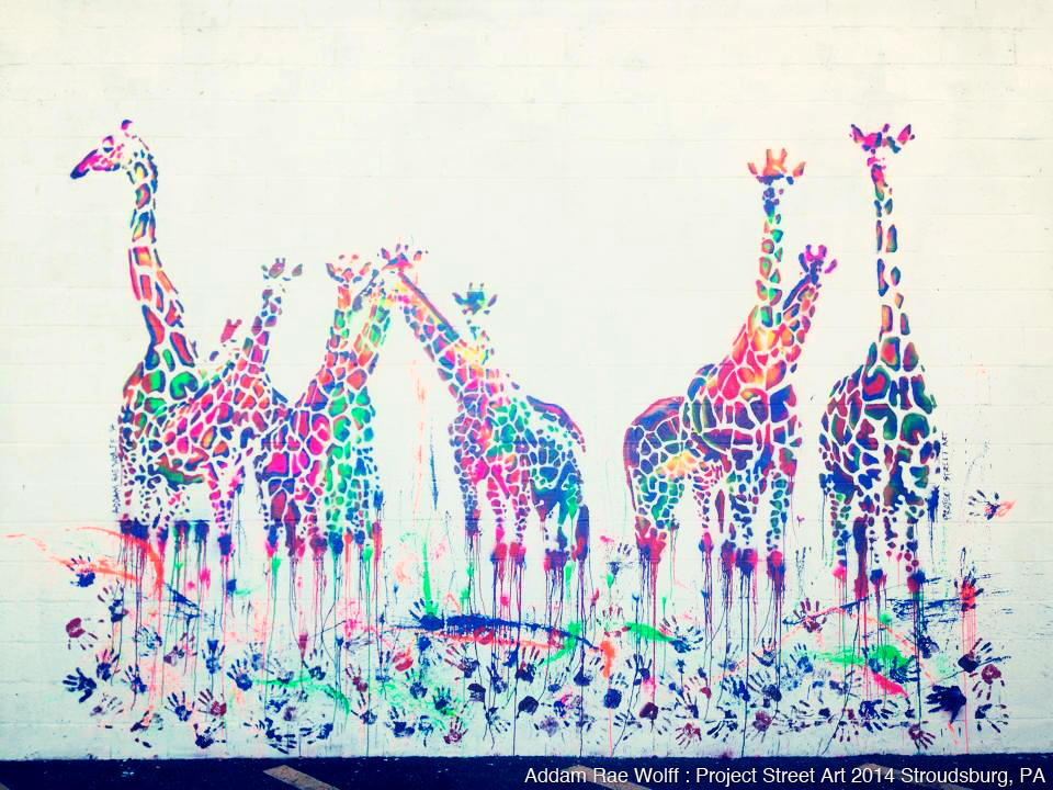 Giraffes (14'x18') - Project Street Art