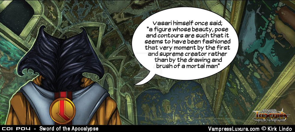 Sword of the Apocalypse Chapter 1 Panel 4 by VampressLuxura