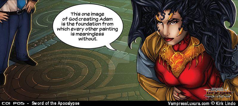 Sword of the Apocalypse Chapter 1 Panel 5 by VampressLuxura