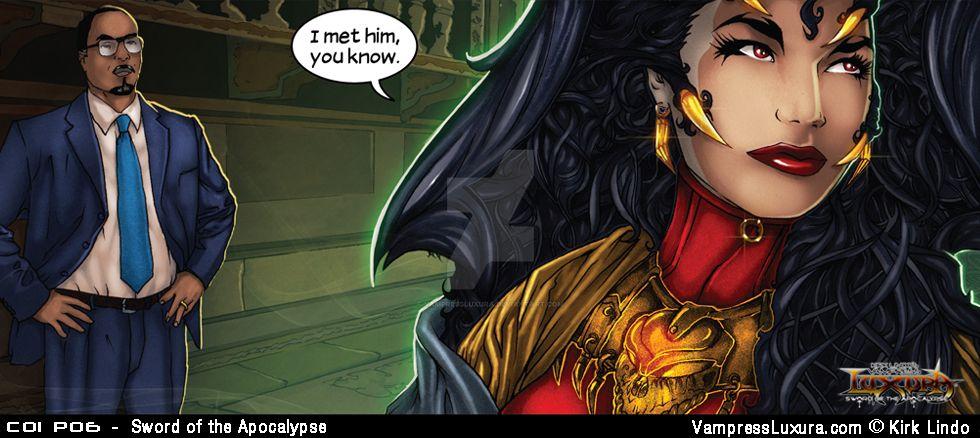 Sword of the Apocalypse - Chapter 1 Panel 6 by VampressLuxura