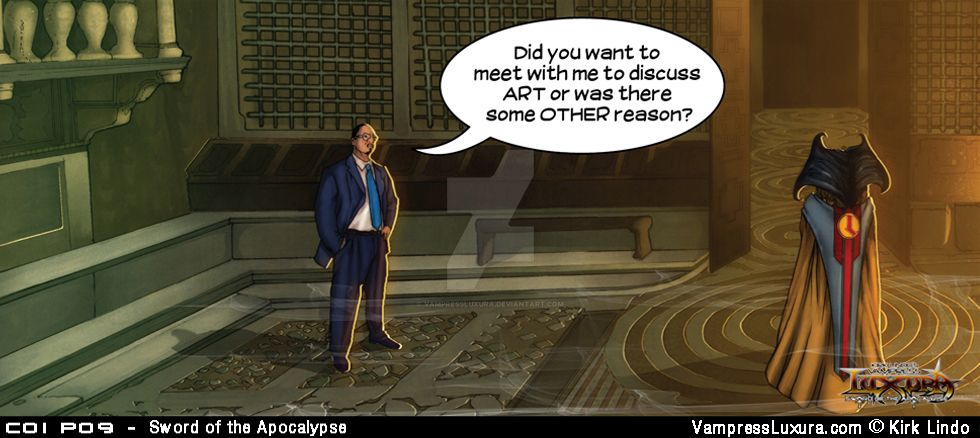 Sword of the Apocalypse Chapter 1 Panel 9 by VampressLuxura