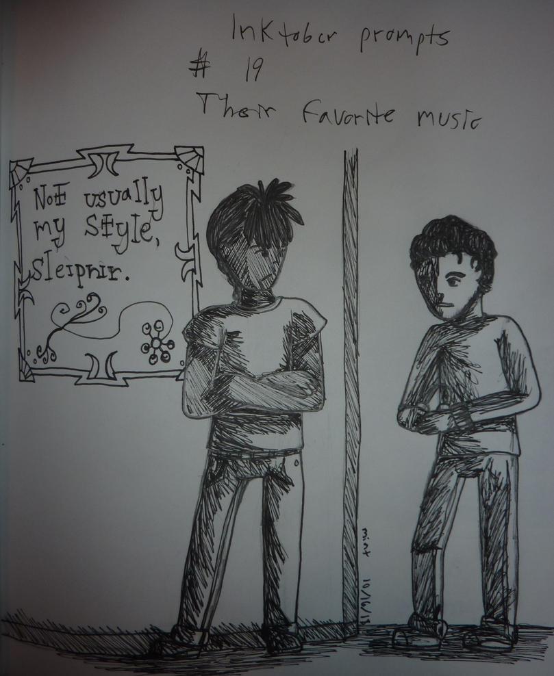 inktober__19__their_favorite_music_by_ch