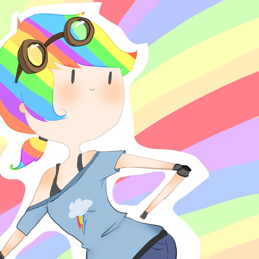 Rainbow Dash by SplicedLamia