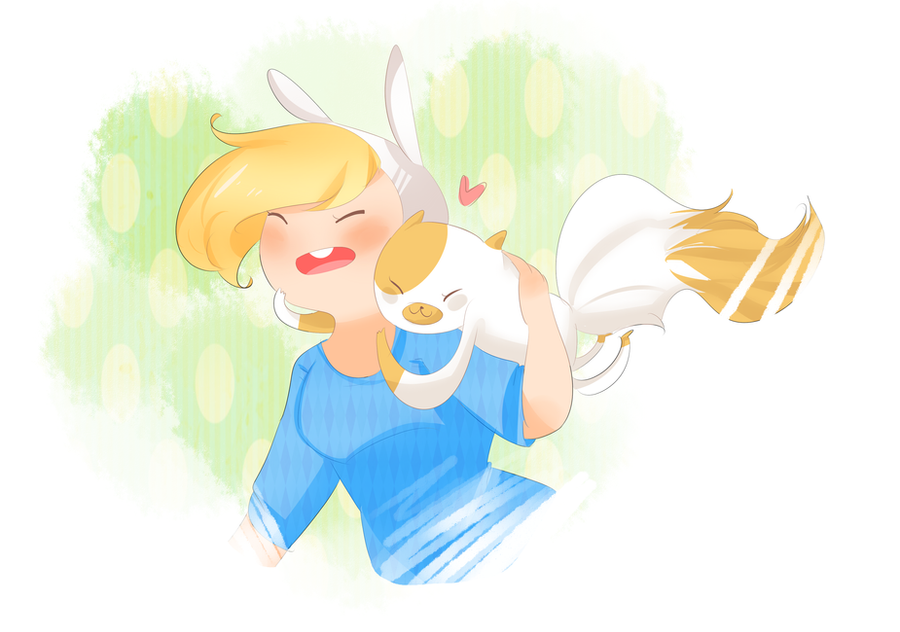 Fionna and Cakee by SplicedLamia