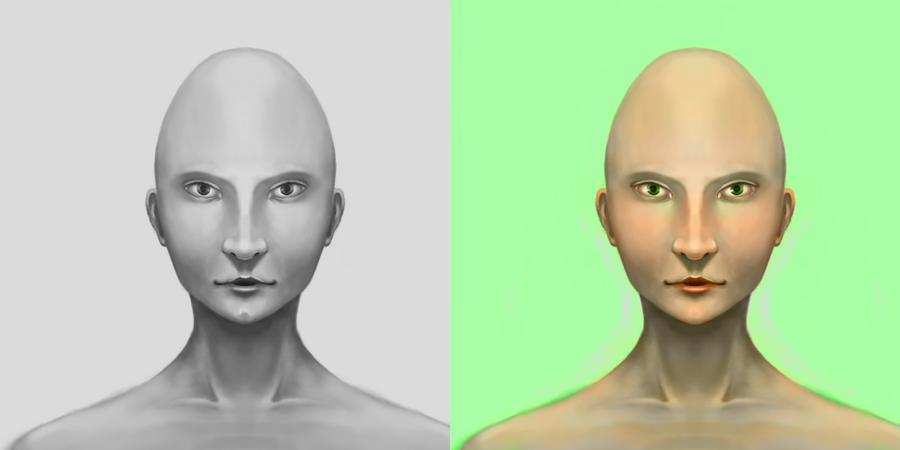 Alien Face by revlunnuha