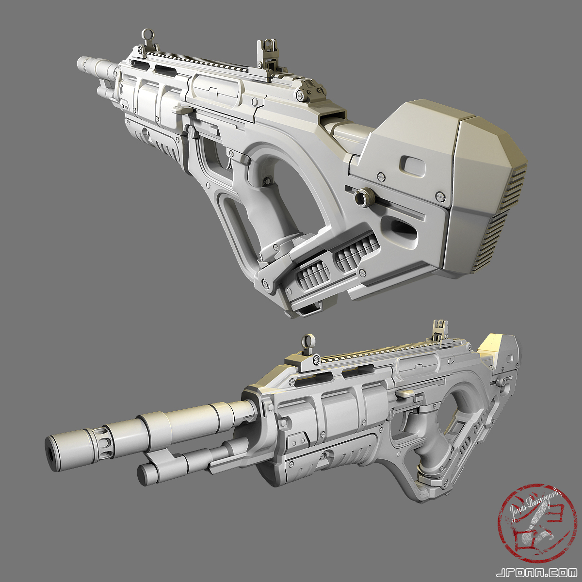 Futuristic weapon design by Jonasrjp