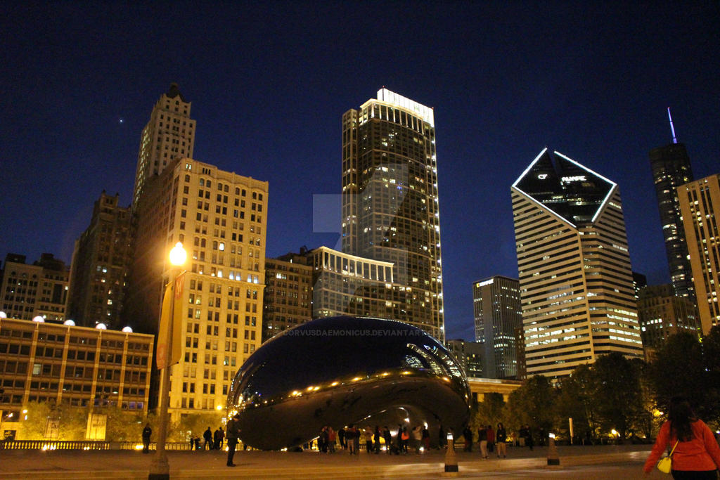 night lights downtown chicago il by corvusdaemonicus on deviantart
