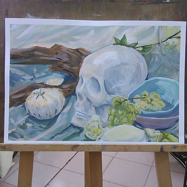 High Key: Skull Painting by Envy4hearts