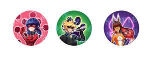 Miraculous Ladybug Badges!!