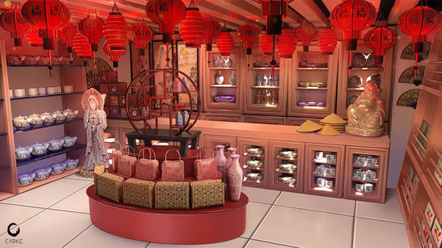 Chinese souvenir shop