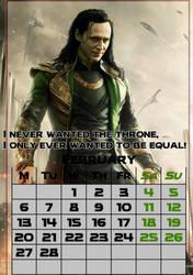 February/Loki/calendar2017 by MAR-y-s