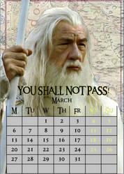 March/Gandalf/calendar2017 by MAR-y-s