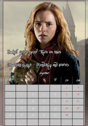 September/ HermioneJeanGranger/calendar2017 by MAR-y-s