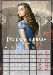 October/Alice/calendar2017 by MAR-y-s