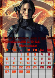 November/Katniss Everdeen/calendar2017 by MAR-y-s